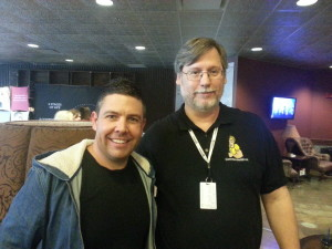 Commander Bill with Andy Kirk, Director of Australian Christian Churches Children's Ministry (ACCkids)